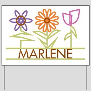 Marlene with cute flowers Yard Sign