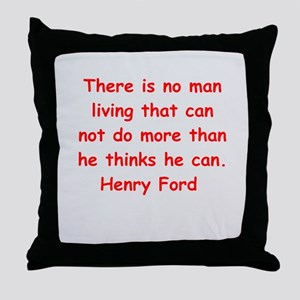 Henry Ford quotes Throw Pillow