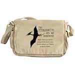 Pterodactyl Ate My Homework Messenger Bag