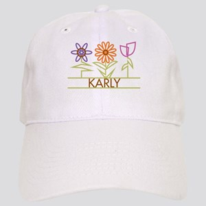 Karly with cute flowers Cap