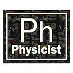 Physicist Retro Small Poster