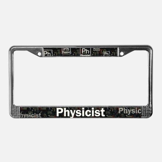 Physicist Retro License Plate Frame