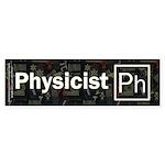 Physicist Retro Sticker (Bumper)