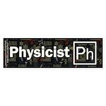 Physicist Retro Sticker (Bumper 10 pk)