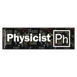 Physicist Retro Sticker (Bumper 50 pk)