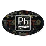 Physicist Retro Sticker (Oval)