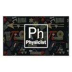 Physicist Retro Sticker (Rectangle)