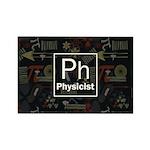 Physicist Retro Rectangle Magnet