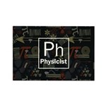 Physicist Retro Rectangle Magnet (100 pack)