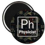 Physicist Retro Magnet