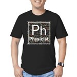 Physicist Retro Men's Fitted T-Shirt (dark)