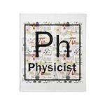 Physicist Retro Throw Blanket