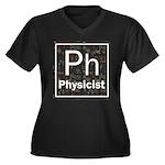 Physicist Retro Women's Plus Size V-Neck Dark T-Sh