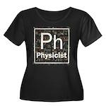 Physicist Retro Women's Plus Size Scoop Neck Dark