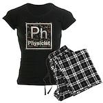 Physicist Retro Women's Dark Pajamas