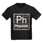 Physicist Retro Kids Dark T-Shirt