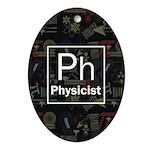 Physicist Retro Ornament (Oval)