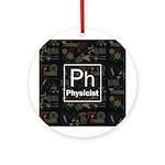 Physicist Retro Ornament (Round)