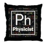 Physicist Retro Throw Pillow