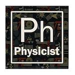 Physicist Retro Tile Coaster