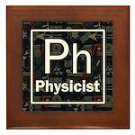 Physicist Retro Framed Tile