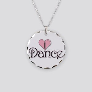 I Dance Necklace Circle Charm