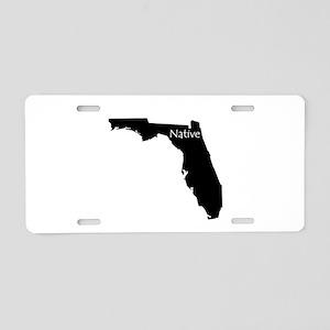 Florida Native Aluminum License Plate