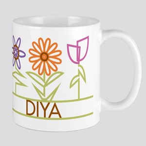 Diya with cute flowers Mug