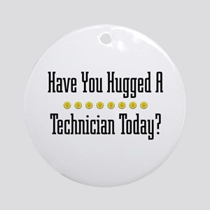 Hugged Technician Ornament (Round)