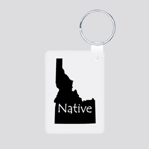 Idaho Native Aluminum Photo Keychain