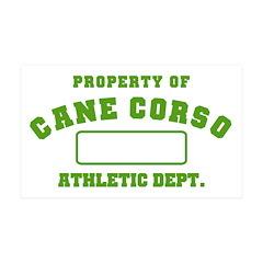 Cane Corso Athletic Dept 38.5 x 24.5 Wall Peel