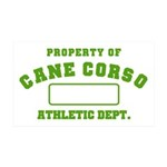 Cane Corso Athletic Dept 38.5 x 24.5 Wall Peel