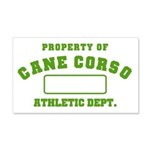 Cane Corso Athletic Dept 22x14 Wall Peel