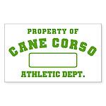 Cane Corso Athletic Dept Sticker (Rectangle 10 pk)