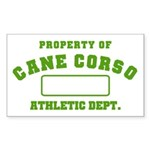 Cane Corso Athletic Dept Sticker (Rectangle)