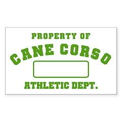 Cane Corso Athletic Dept Sticker (Rectangle)