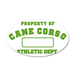 Cane Corso Athletic Dept 38.5 x 24.5 Oval Wall Pee