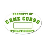 Cane Corso Athletic Dept 22x14 Oval Wall Peel