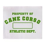 Cane Corso Athletic Dept Throw Blanket