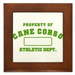 Cane Corso Athletic Dept Framed Tile