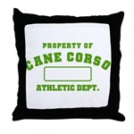 Cane Corso Athletic Dept Throw Pillow