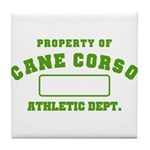 Cane Corso Athletic Dept Tile Coaster