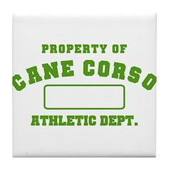 Cane Corso Athletic Dept Tile Coaster