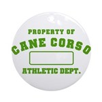 Cane Corso Athletic Dept Ornament (Round)