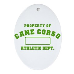 Cane Corso Athletic Dept Ornament (Oval)