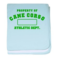 Cane Corso Athletic Dept baby blanket