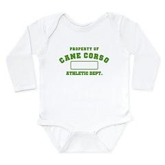 Cane Corso Athletic Dept Long Sleeve Infant Bodysu