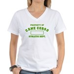 Cane Corso Athletic Dept Women's V-Neck T-Shirt
