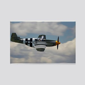 P 51 Mustang Rectangle Magnet