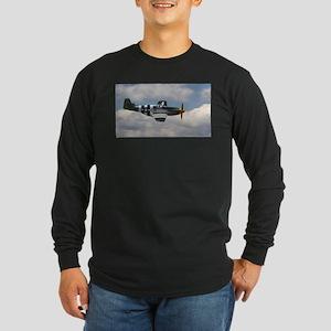 P 51 Mustang Long Sleeve Dark T-Shirt